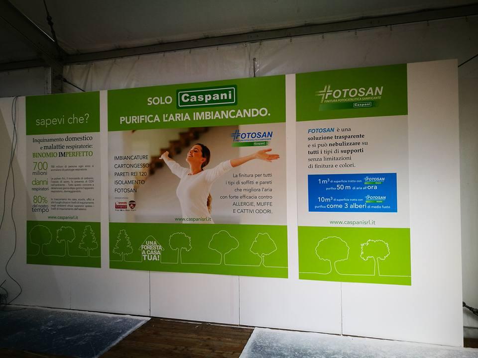 Fiera di Varese 2016 Caspani presenta Fotosan Finitura Fotocatalitica Sanificante